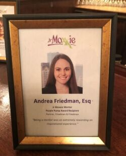 Moxxie Purple Pump Award - Andrea Friedman